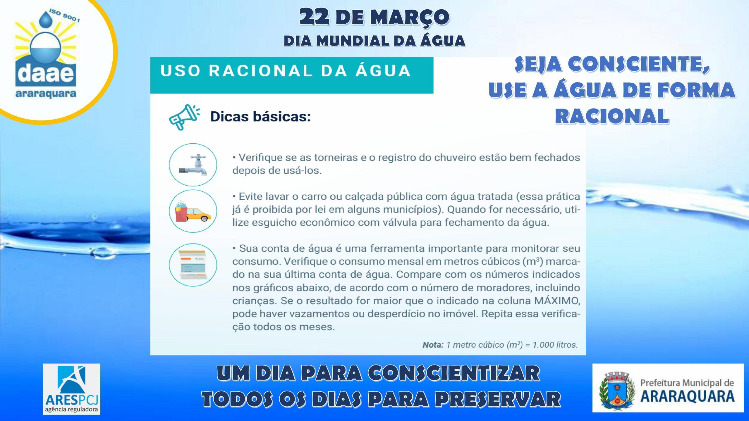 Dia Mundial da Água: Um dia para conscientizar, todos os dias para preservar