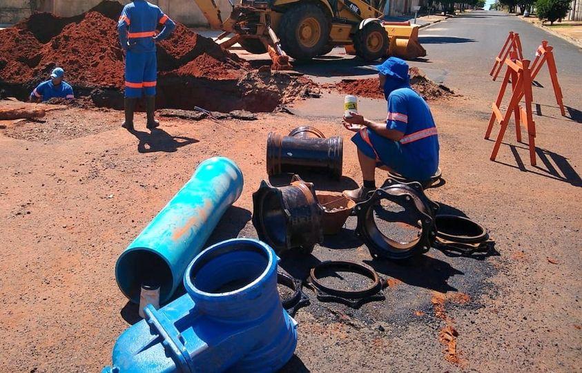 Serviço emergencial no Jardim Araraquara (13/04)