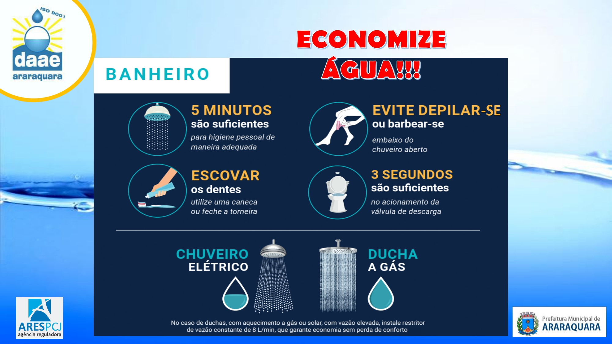Daae alerta para o uso racional da água